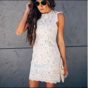 VICI | White Floral Lace Dress NWOT